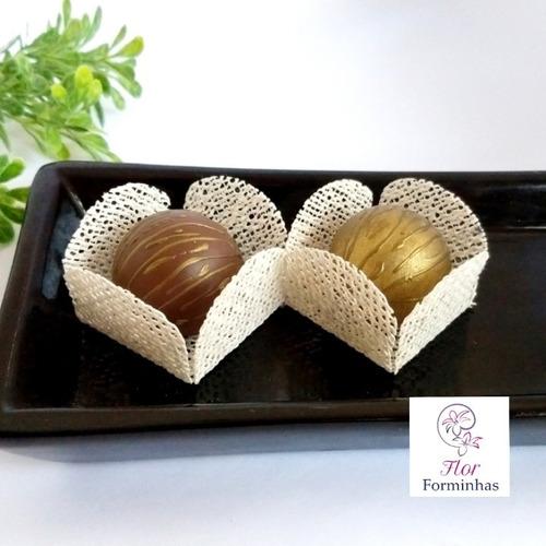 50 forminhas caixeta rustica p doces festas  em juta