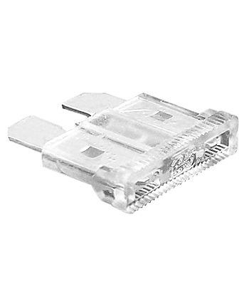 50 fusibles automotrices de caja 25 amper transparente