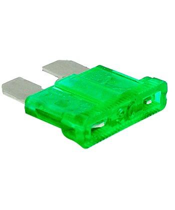 50 fusibles automotrices de caja 30 amper verde