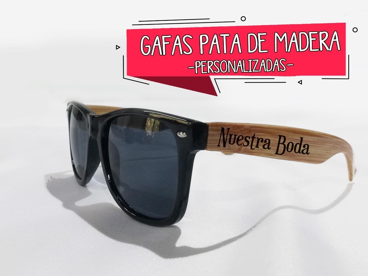 6eabb92168 50 Gafas De Sol Pata Tipo Madera Bodas,xv Años,publicidad ...