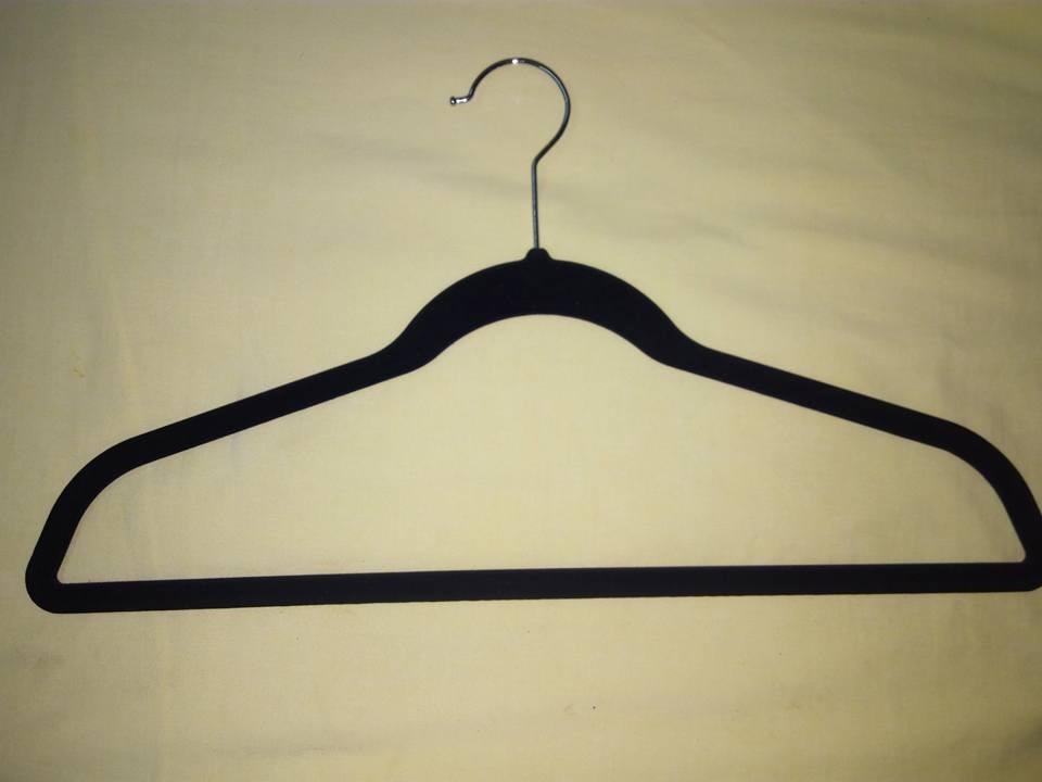 50 ganchos de ropa de terciopelo en mercado libre for Ganchos de plastico