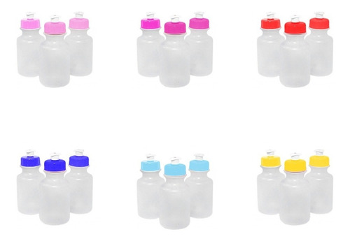50 garrafas squeeze tampa plástica 300ml