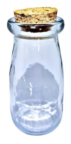 50 garrafinha pote vidro tampa de rolha 100ml decor festa