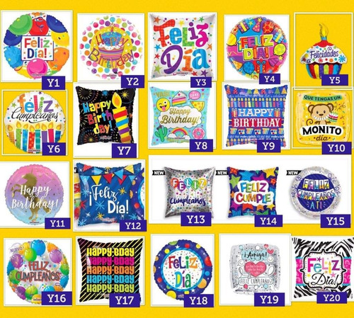 50 globo metalico feliz cumpleaños helio happy birthday