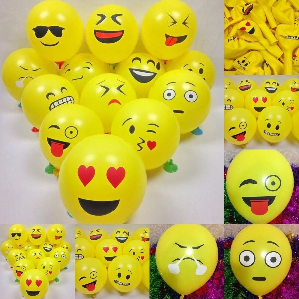 50 globos emoji para fiesta de cumplea os decoraci n - Adornos fiesta de cumpleanos ...
