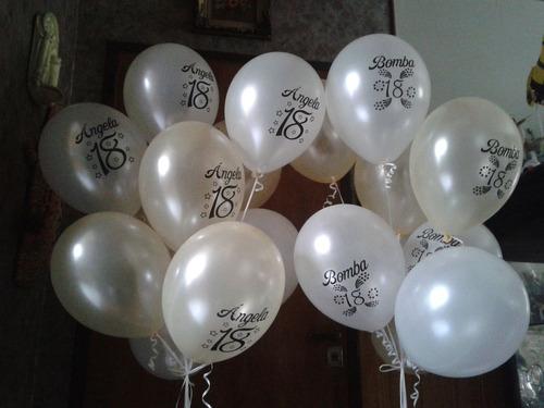 50 globos impresos personalizados 12 pulg. perlados premium