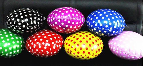 50 globos metálicos con lunares de 18 pulgadas
