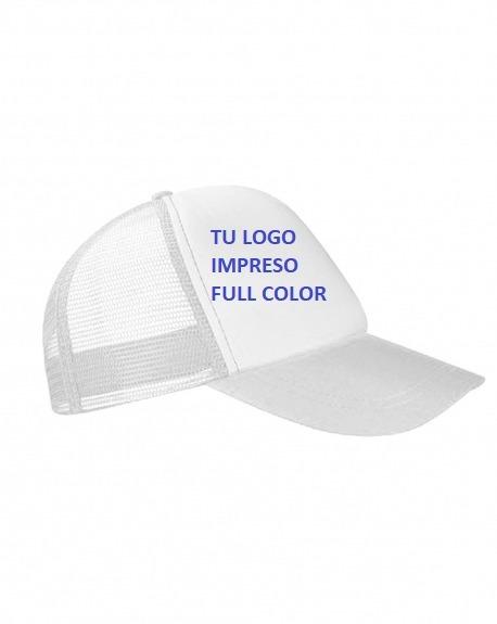50 Gorras Trucker Blancas C  Logo. Mejor Precio.importador ... ad418d011be