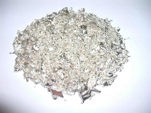 50 gramas de prata mil pura 1000 mil granulada para ourives