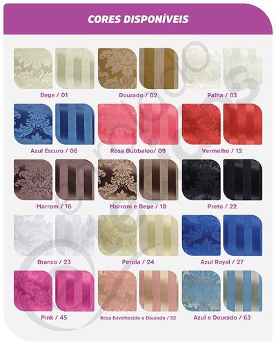 50 guardanapos em tecido jacquard 40cm x 40cm diversas cores
