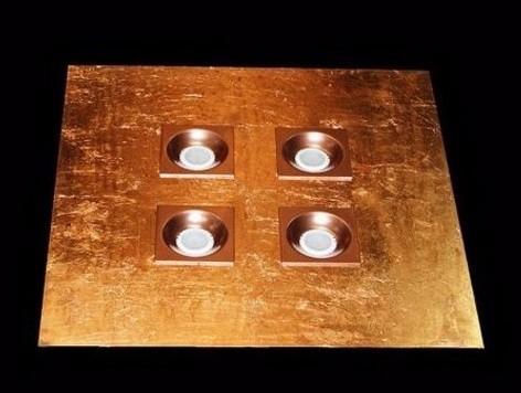 50 hojas de cobre 16cm arte con 1/2 pegamento y 1/2 barniz