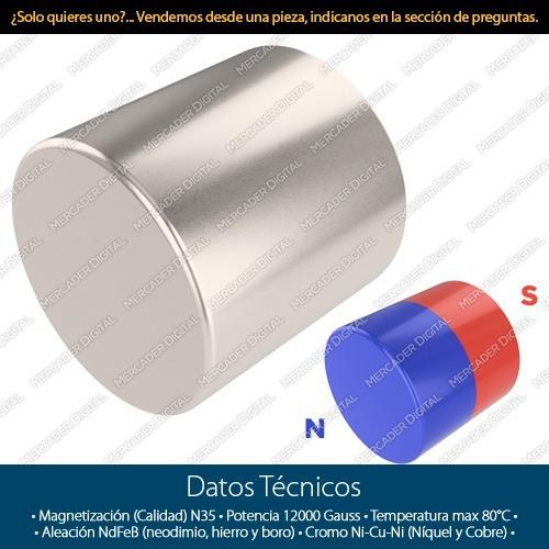 50 imanes de neodimio 6mm x 6mm cilindrico + envío gratis