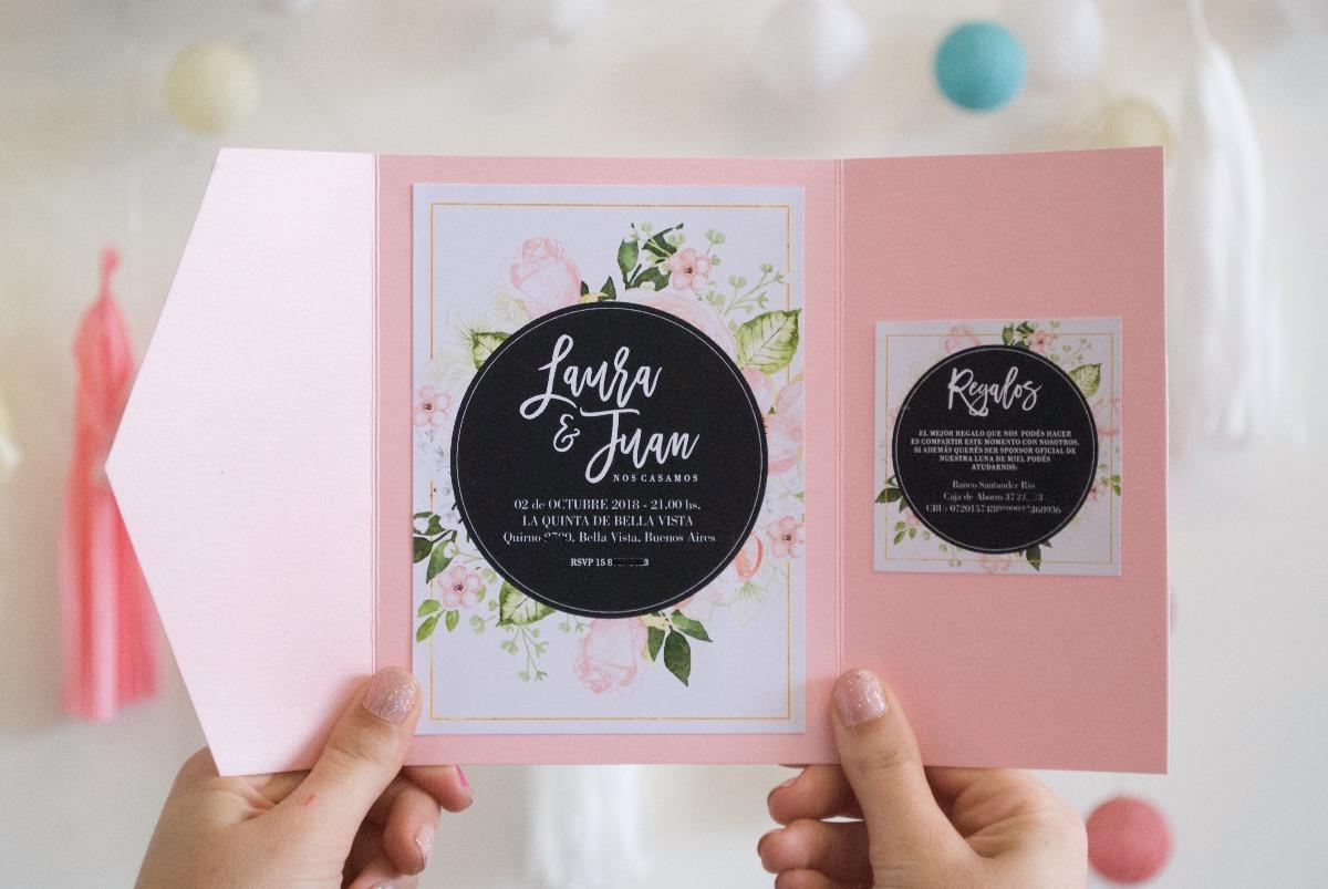 50 Invitaciones Originales Casamiento Especial Tarjetas Boda