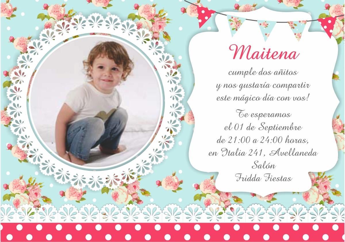 50 Invitaciones Tarjetas Bautismo Primer Año Baby Shower
