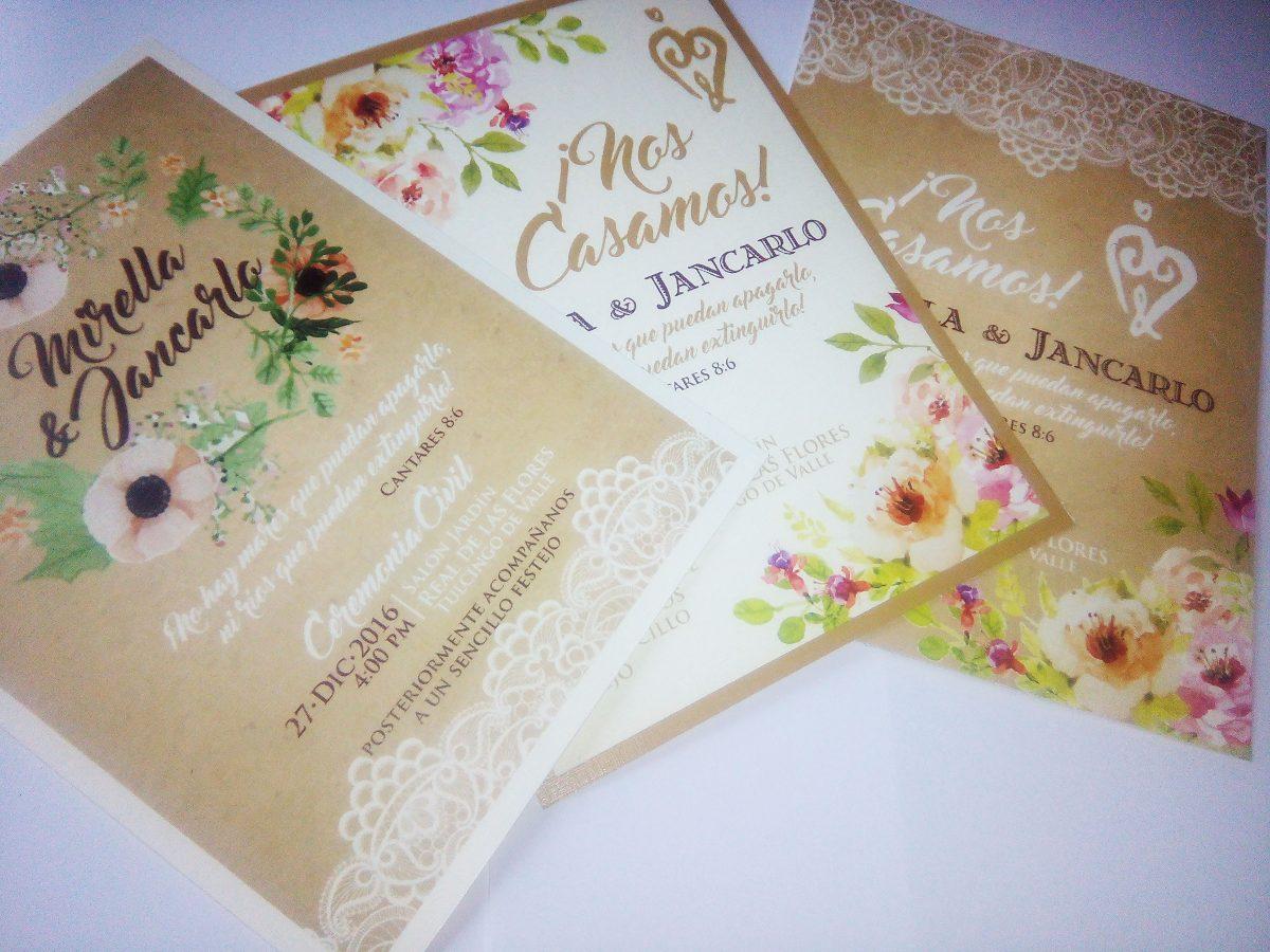invitaci 243 n de boda en tres papeles distintos digitalpapel papel invitacion boda 50 invitaciones vintage papel texturizado boda 875 00