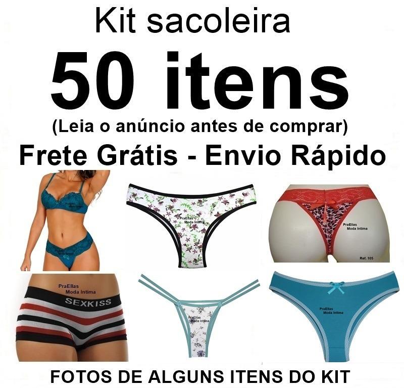 b6ac00ad5 50 Itens Mistos Atacado Lingerie Calcinha Fio Tanga Revenda - R  199 ...