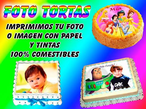 50 láminas 100 % comestibles fototortas distintos motivos!!!