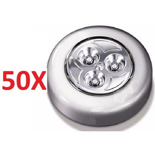 50 lampadas luminaria parede teto interior led toque sem fio