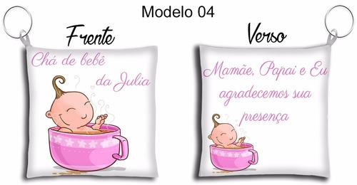 50 lembrancinhas chaveiro almofada tema chá de bebê meninas