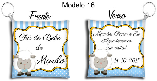 50 lembrancinhas chaveiro almofada tema chá de bebê meninos