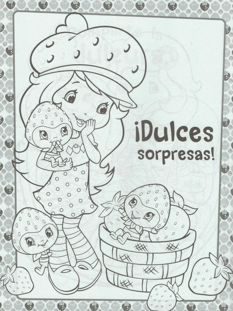 50 Libros Para Colorear Rosita Fresita 50 Caja De Crayolas