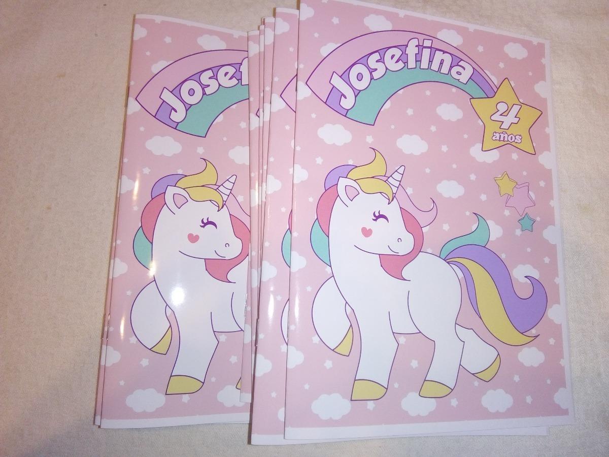 50 Libros P/colorear Souvenirs Unicornios Cumpleaños 10x15 - $ 550 ...