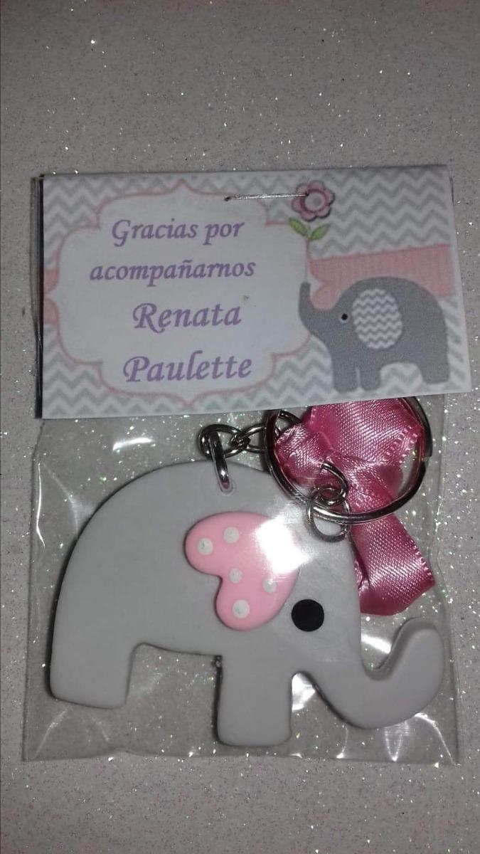 Ideas Para Baby Shower Elefante.50 Llaveritos Mas 50 Distintivos Elefante Para Baby Shower