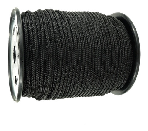 50 m soga cuerda negra 3.mm trenzada camping multiuso negro