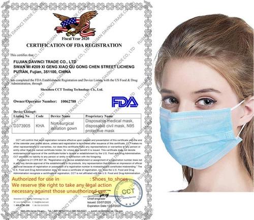 50 mascarillas quirúrgicas, 3 filtros & certificadas