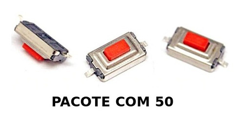 50 micro chave botão switch p/ chevrolet gm - lote com 50