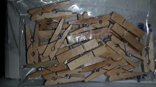 50 mini broches 3.5cm. souvenirs -color madera -fotos-tarjet
