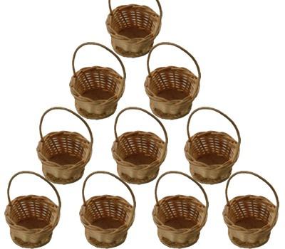 50 mini cesta lembrancinha palha bambu 03x05 r - Cestas de mimbre pequenas ...