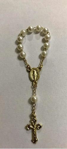 50 mini terco dourado com branco / lembrancinha/batizado