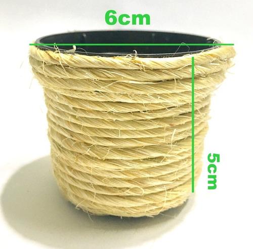 50 mini vaso sisal  natural 6x5cm atacado menor preço