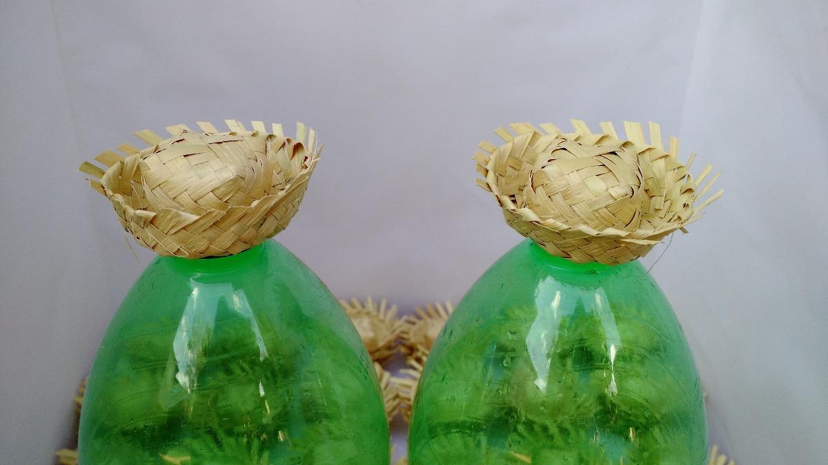 50 miniatura de chapéu de palha enfeite festa junino. Carregando zoom. d57e510e3ec