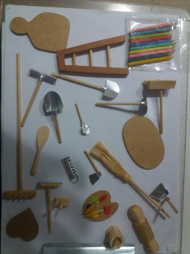 50 miniaturas para casa de boneca, maquete