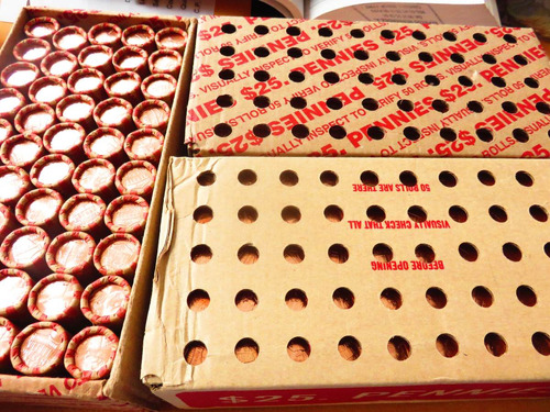 50 monedas lincoln cent shield  año 2013 rollo nuevo unc