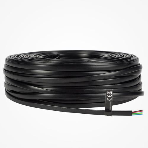50 mts cable telefónico modular, 4 vías, 28 awg, color negro