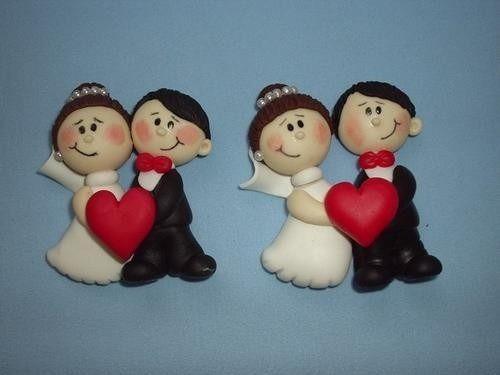 50 novinhos imã de geladeira lembrancinha casamento biscuit