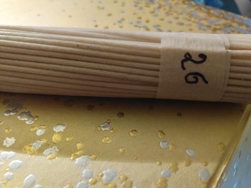 50 pabilos encerados algodón 10 cm portapabilos # 26