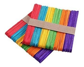 50 palitos helado color o natural  para manualidades x 10