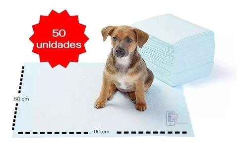 50 pañales sabanillas mascotas 60x60 cm perro entrenamiento