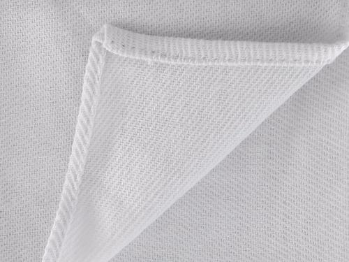 50 panos de prato 77 x 44 cm branco liso com bainha 1° linha