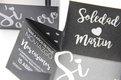 50 participaciones, invitacione tarjetas casamiento cajitas