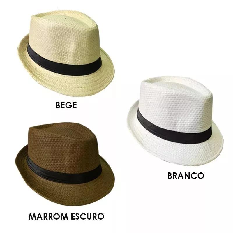 50 Pcs Chapeu Malandro Carioca Panama Palha - R  355 e36522b2207