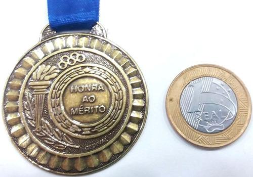 50 peças medalha 45mm com fita - ouro/prata/bronze