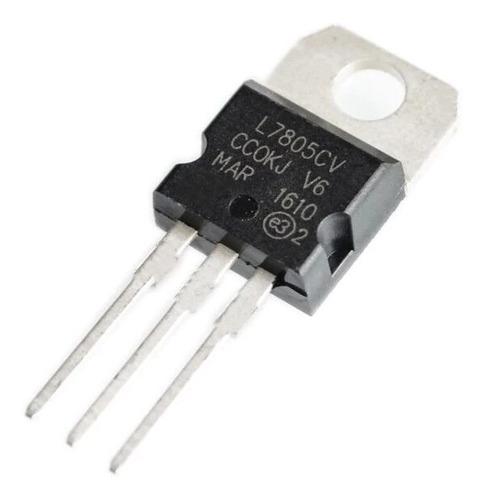 50 peças - regulador de tensão 5v l7805 / l7805cv