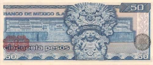 50 pesos 1978 billete juarez en buen estado 1978