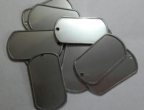 50 placas de identificacion militar para grabar envio gratis