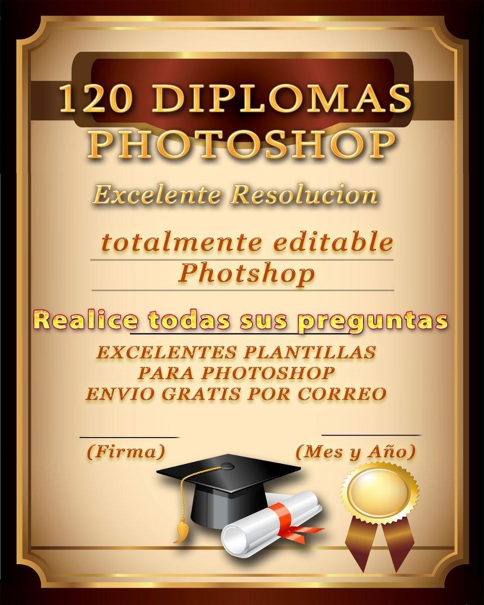 50 Plantillas Diplomas Editable Photshop Psd Alta Resolucion ...